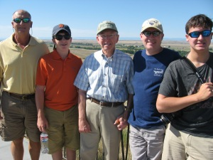 My dad with his sons and grandsons at the Little Big Horn Battlefield