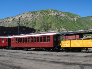 A couple of cars on the Durango and Silverton Line